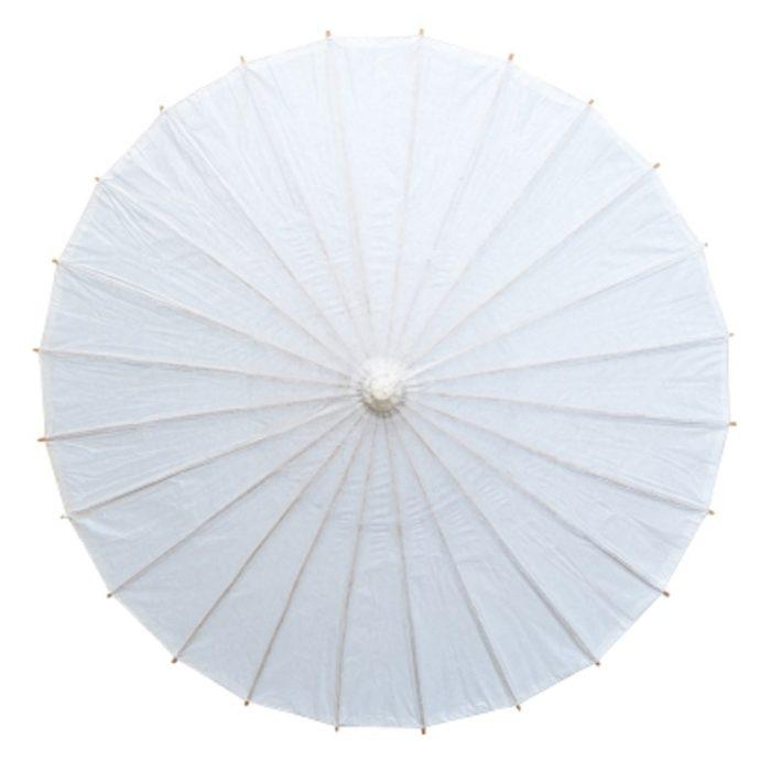 Plain White Paper Parasol Decor