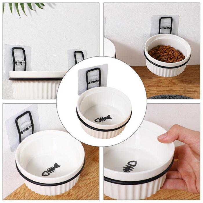 Ceramic Wall Mounted Dog Bowl