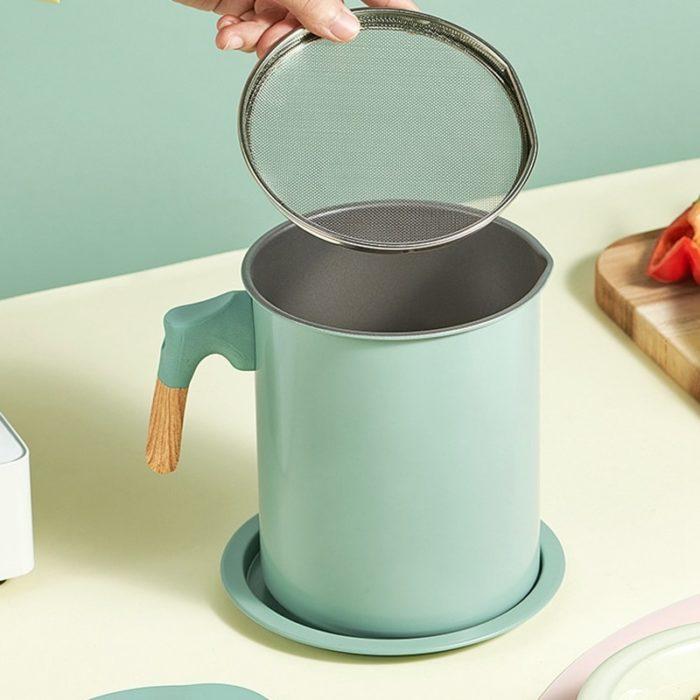 Cooking Oil Grease Strainer Container