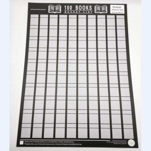 Bucket List Books Scratch Off Poster