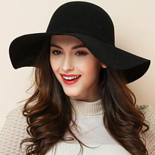 Soft Wool Ladies Wide Brim Hat