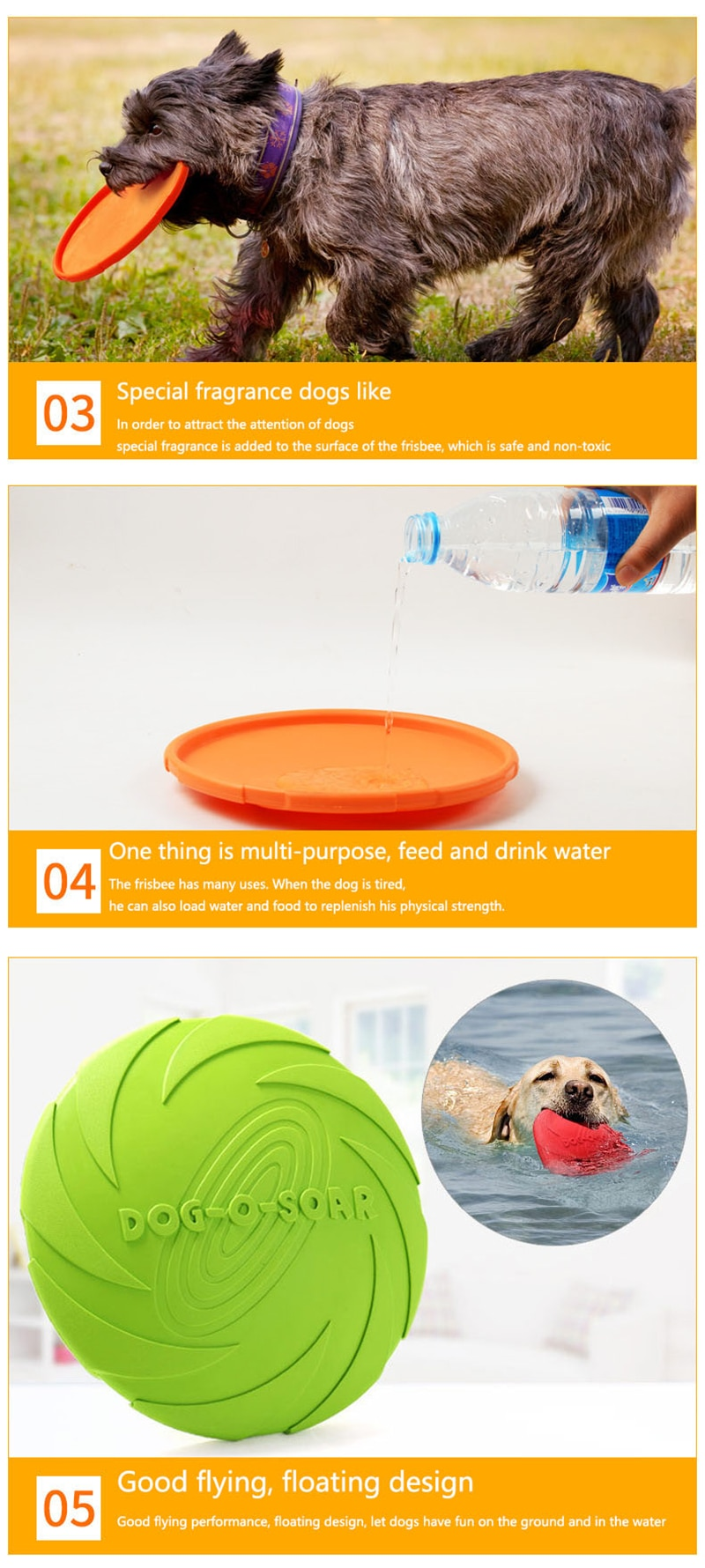 Silicone Flying Saucer Dog Cat Toy Rubber Flying Discs Dog Game Resistant Chew Puppy Training Funny Interactive Pet Supplies