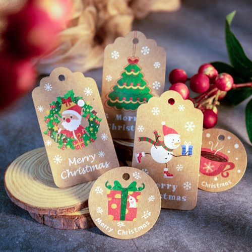 Kraft Paper Holiday Gift Tags with Rope
