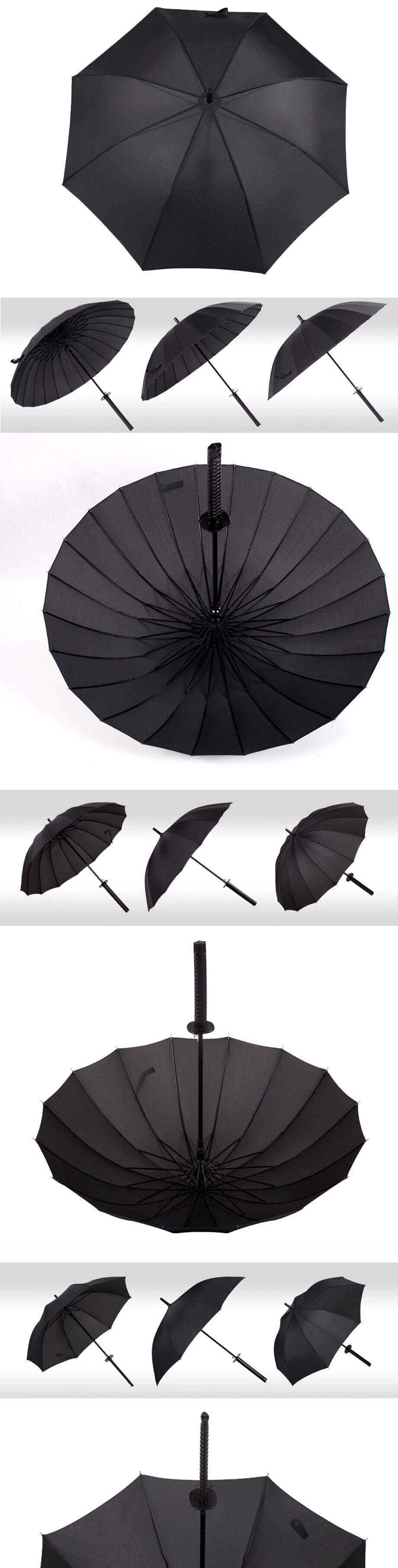 Creative Long Handle Large Windproof Samurai Sword Umbrella Japanese Ninja-like Sun Rain Straight Umbrellas Automatic Open