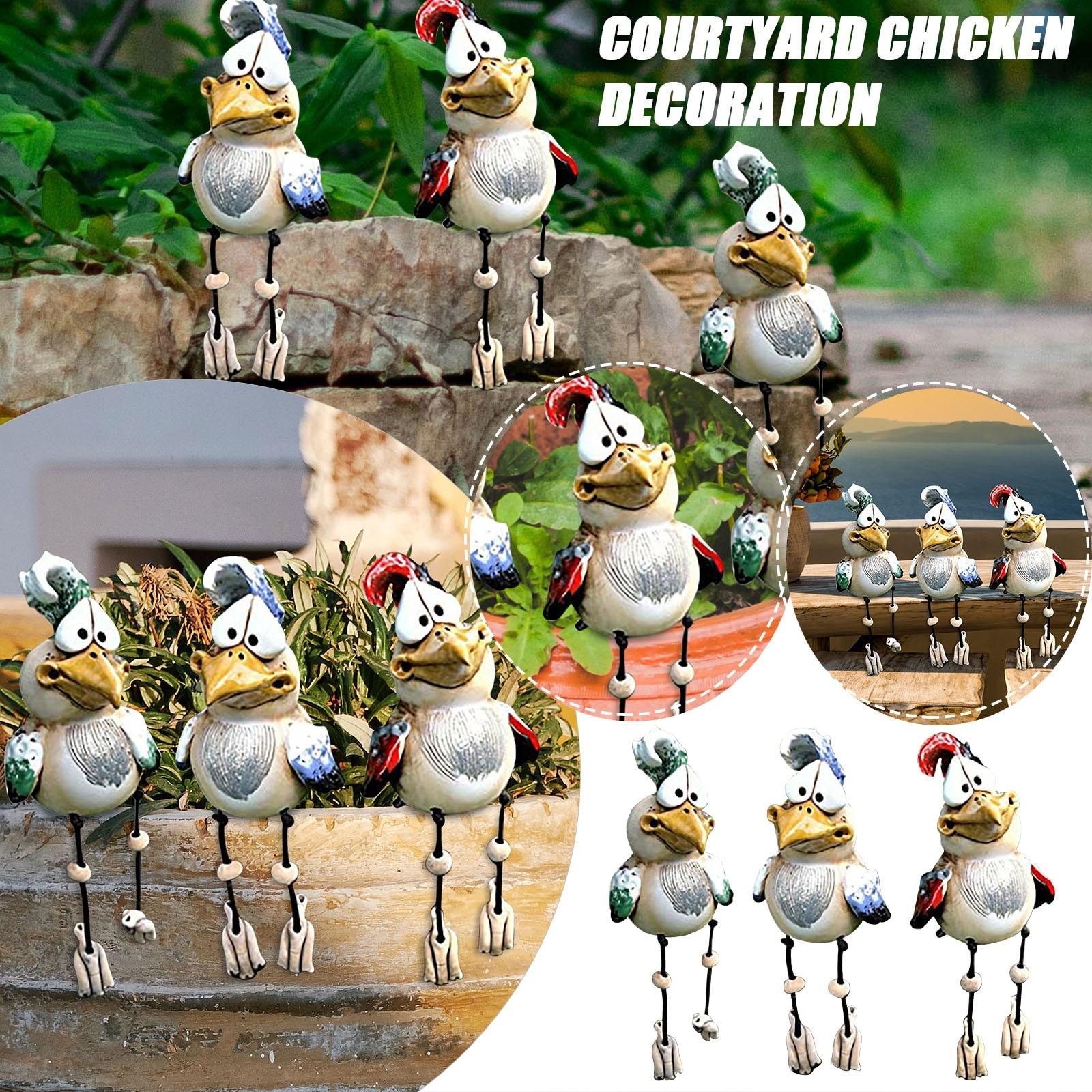 2021 New Chicken Farm Farm Art-Backyard Decoration Courtyard Chicken Decoration Garden Statues Outdoor Yard Landscape Sculptures