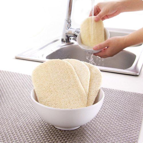 Natural Loofah Dish Sponges (3pcs)