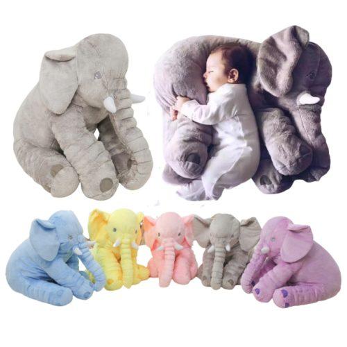 Plush Elephant Stuffed Animal Pillow