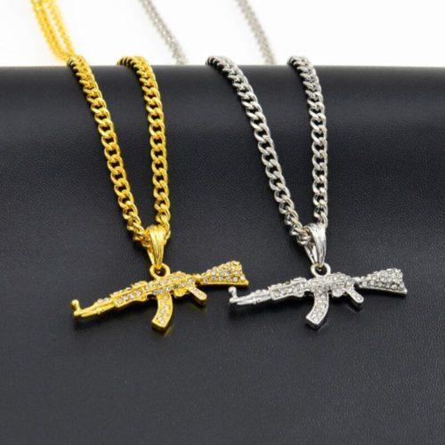 Gun Necklace Fashionable Jewelry
