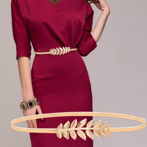 Ladies Thin Elastic Dress Belt