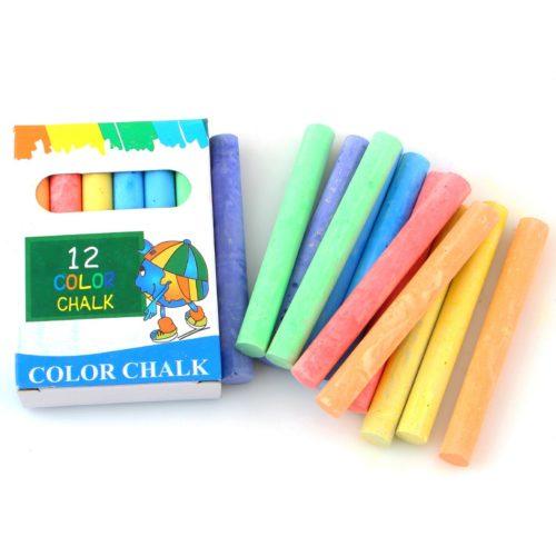 Dustless Colored Chalks (12 Pcs)