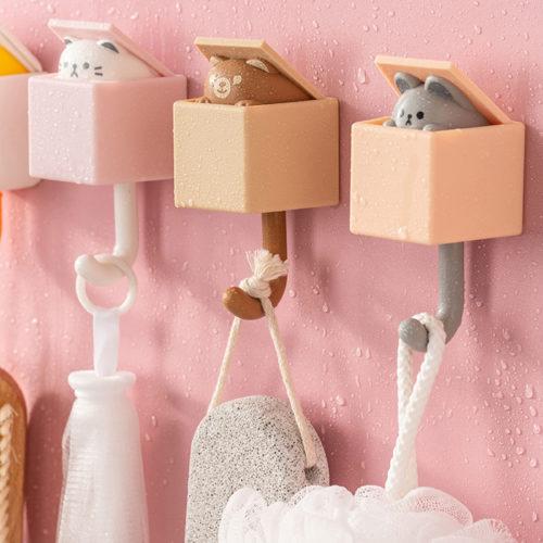 No-Drill Cat Wall Hook