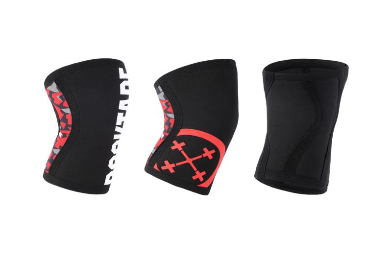 7mm Weightlifting CrossFit Powerlifting(2 pieces) Strongman knee compression sleeve