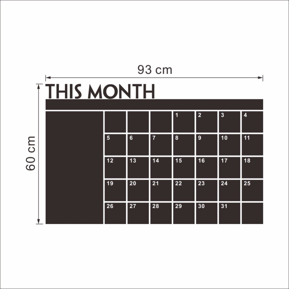 This Month Calendar Chalkboard Wall Stickers Carved Trade Explosions PCs The Blackboard Stickers