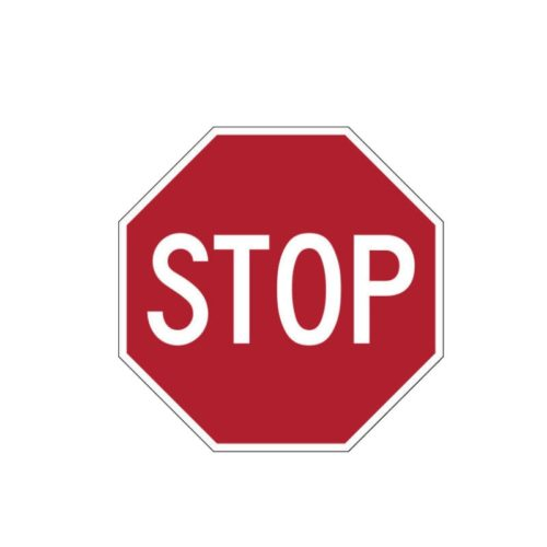 Red Stop Sign PVC Sticker