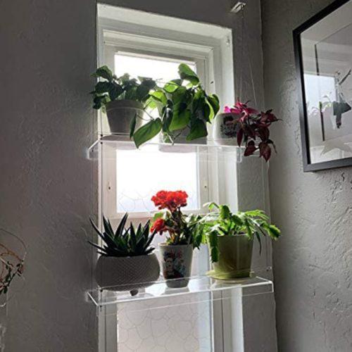 Floating Acrylic Window Shelves