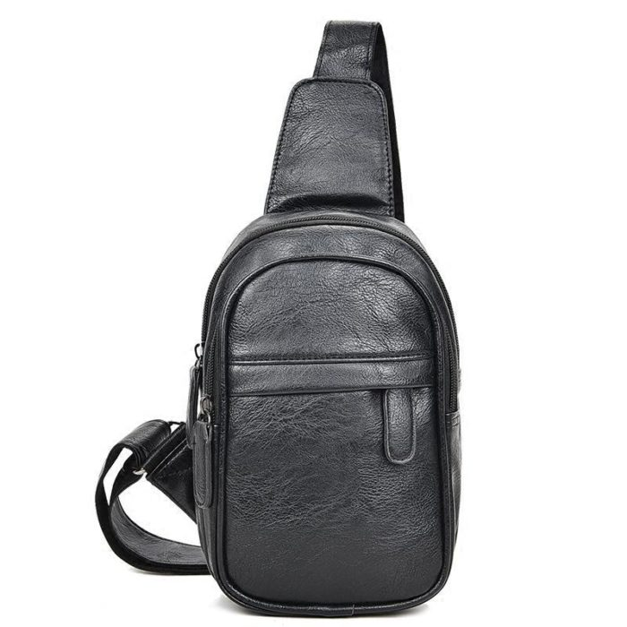 Mens PU Leather Small Chest Bag