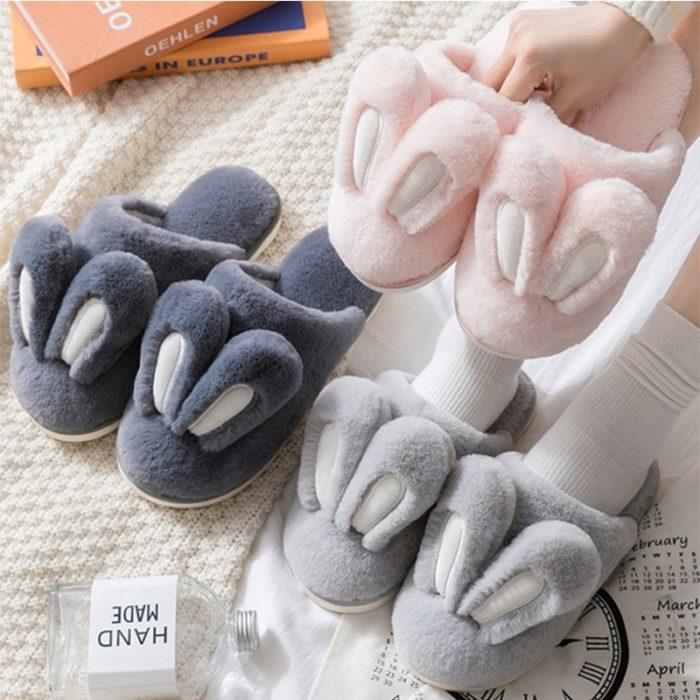 Cute Indoor Bunny Ear Slippers