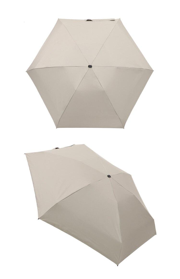 Ultralight Mini Flat Umbrella Portable Six Folding Clear Umbrella Rain Women Small Men Umbrella Kids Sun Protect Anti UV Parasol