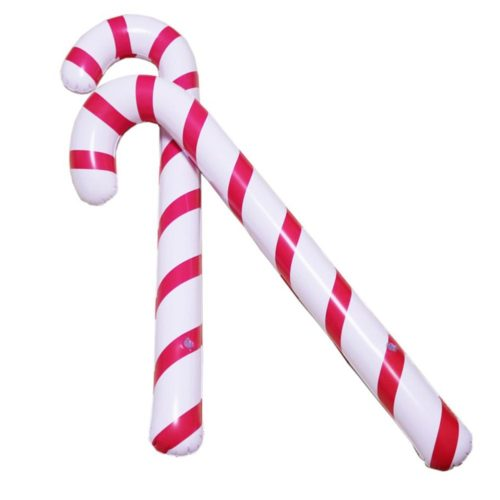 Inflatable Candy Canes Christmas Decor (2Pcs.)