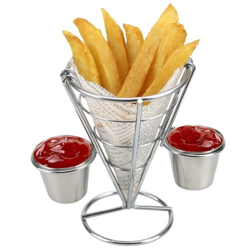 French Fries Stand with Dipping Cup