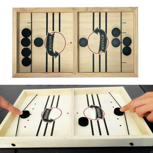 Wooden Sling Hockey Board Game