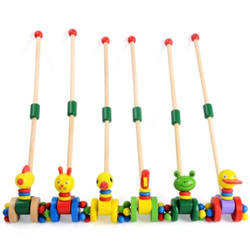 Colorful Animal Wooden Push Toy