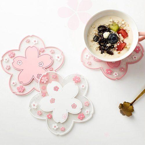 Cherry Blossom Coaster Table Decor