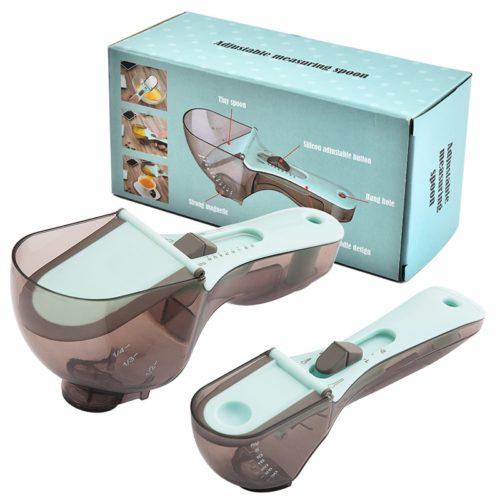 Kitchen Adjustable Measuring Spoons (2pcs)
