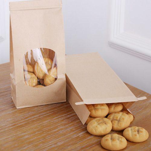 Brown Kraft Bags with Window (50pcs)