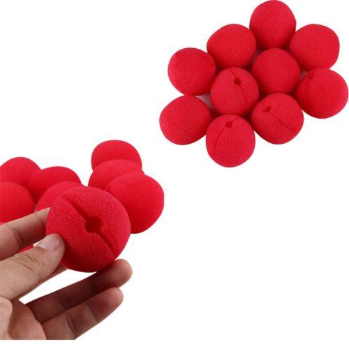 Foam Red Clown Noses (10 pcs)