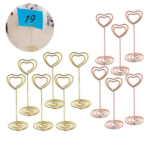 Heart Table Number Holders (12 pcs)