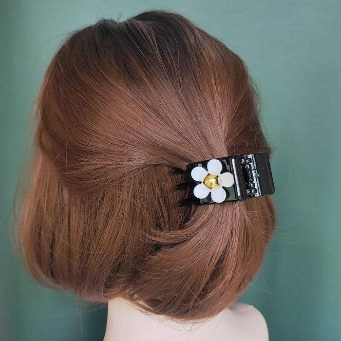 Girls Cute Flower Hair Claw Clips