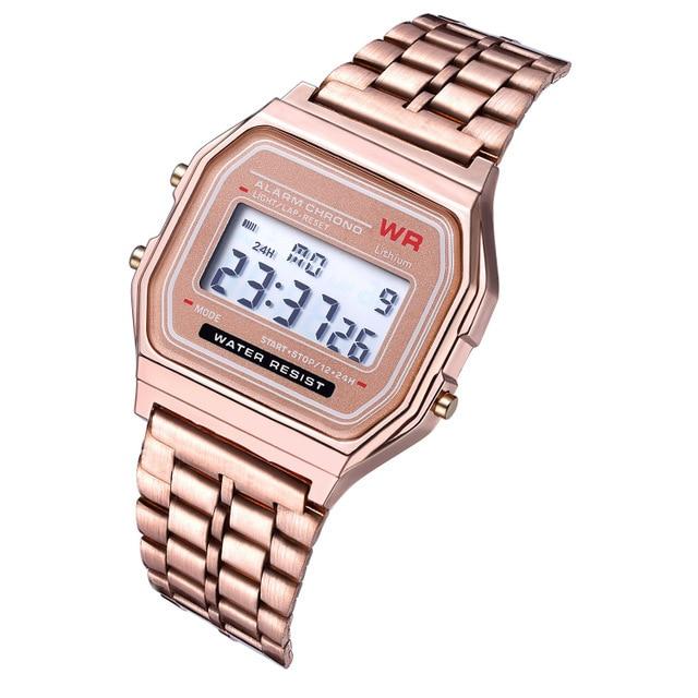 Steel Unisex Digital Watch