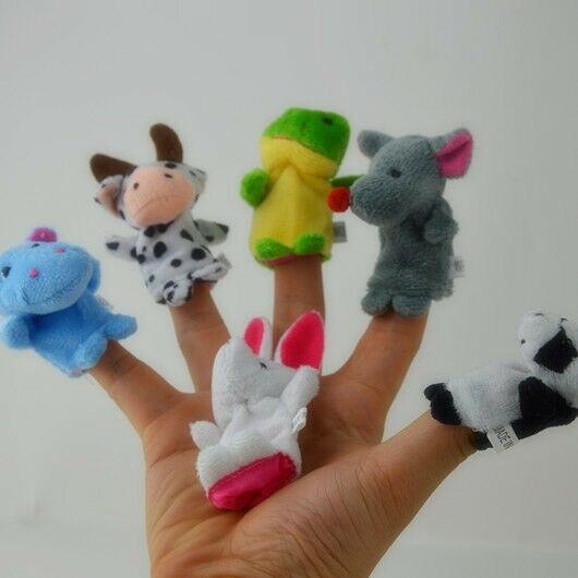 Velvet Farm Animal Finger Puppets (10 pcs)
