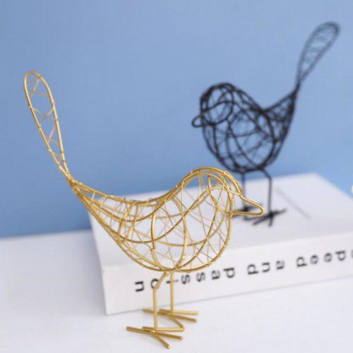 Nordic Garden Metal Bird Statue