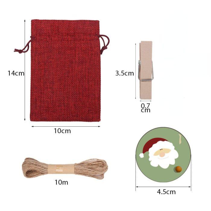 Linen Advent Calendar Bags Set (24pcs)