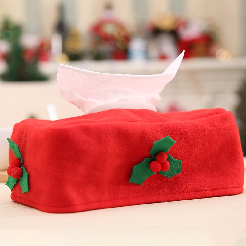 Christmas Decorations for Home Xmas Tissue Box Cover Table Decor New Year 2022 Adornos De Navidad Noel Party Decor Ornaments