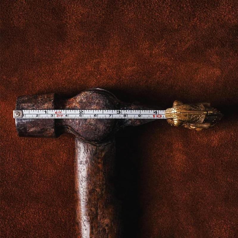 Manganese Steel Cha-meleon Tape 6FT/2m Measure Brass Tape Measure Animal Foot Metric Tape Measure Distance Measuring