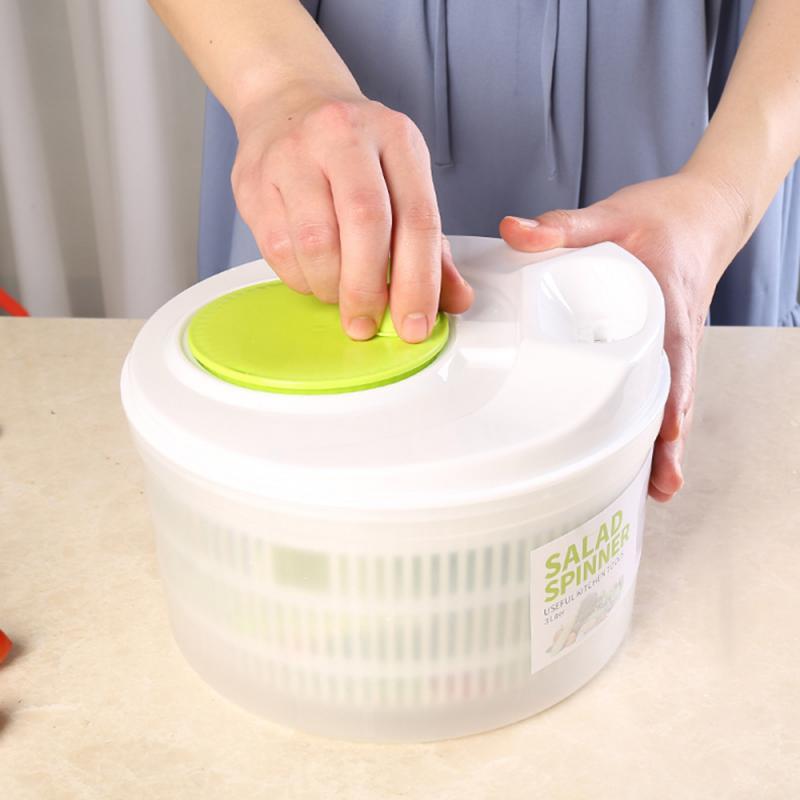 1pcs Large Manual Salad Washer Spinner Dryer Drainer Lettuce Veg Herbs Vegetable Food Drying Household Fruit Dehydrator Drainer