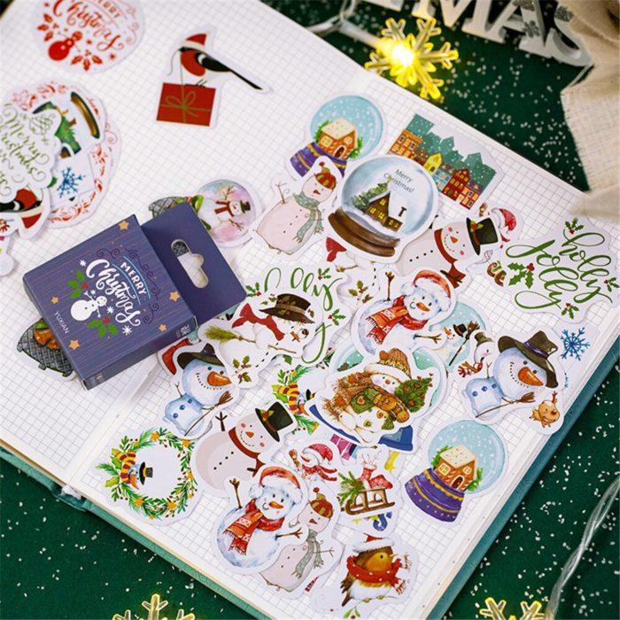 Cute Christmas Stickers Decoration 50pcs/set