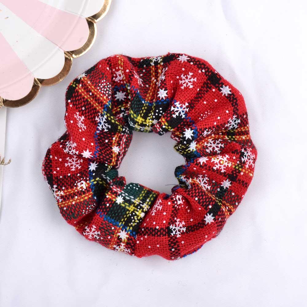 4.38Inch 2020 Fashion Christmas Scrunchie Elastic New Handmade HeadBands Hair Rope Ponytail Holder Headdress Hair Accessories