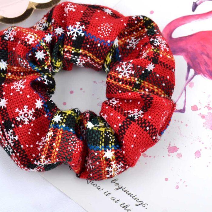 Christmas Scrunchie Fashionable Hair Accessory
