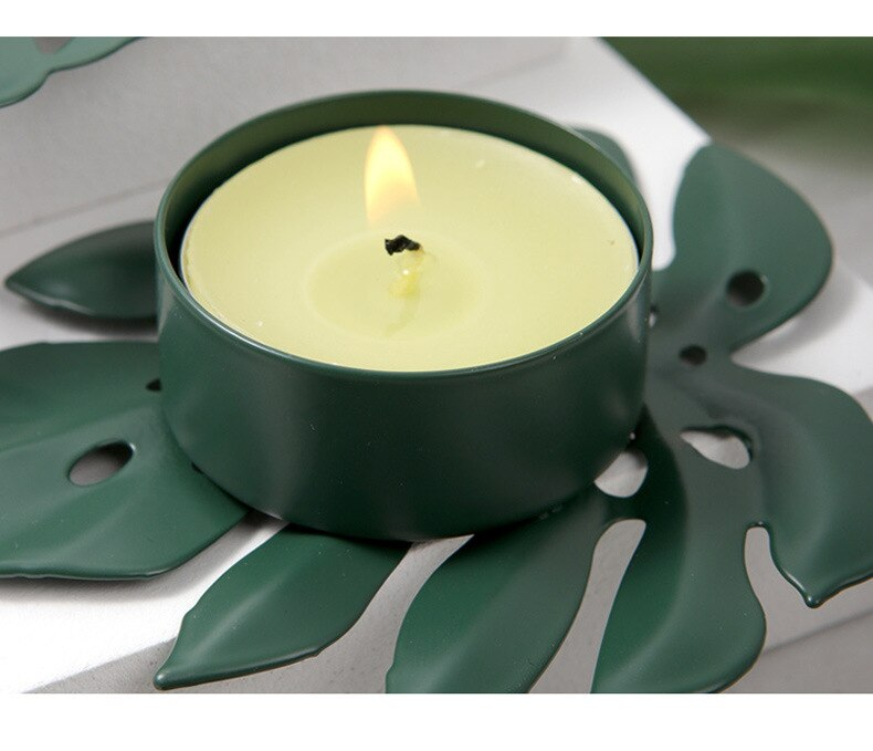 Home Office Decorative Candle Holder Creative Turtle Leaf Candlelit Wedding Bar Party Home Decor Candlestick New