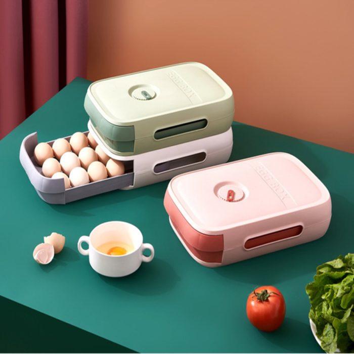 Plastic Egg Holder Storage Drawer