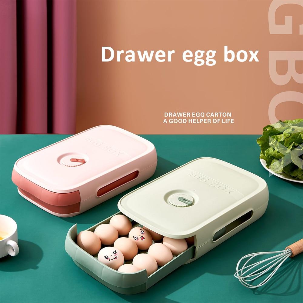 Egg Storage Box Kitchen Drawer Type Egg Storage Refrigerator Storage Box Fresh Keeping Box Dumpling Box Household Eggs Holder #1