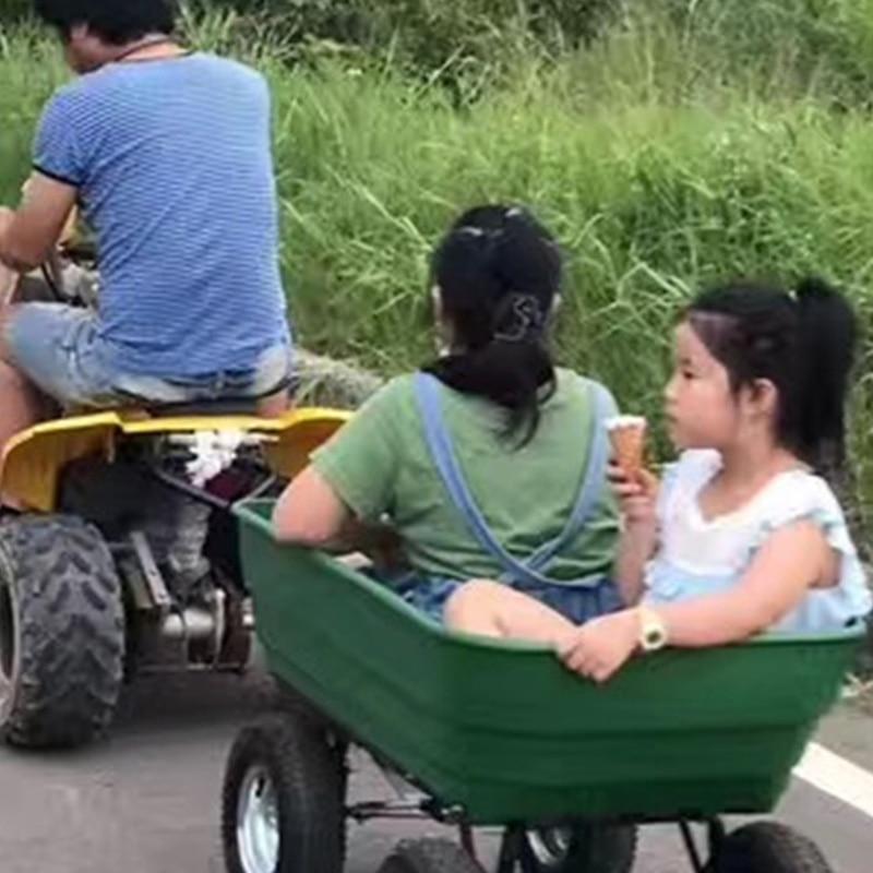ALWAYSME Multipurpurse Utility Wagon Yard Dump Cart Shopping Trolley Cart Hand Cart Hand Truck For Shopping,Cargo,Pet,Kids,Baby