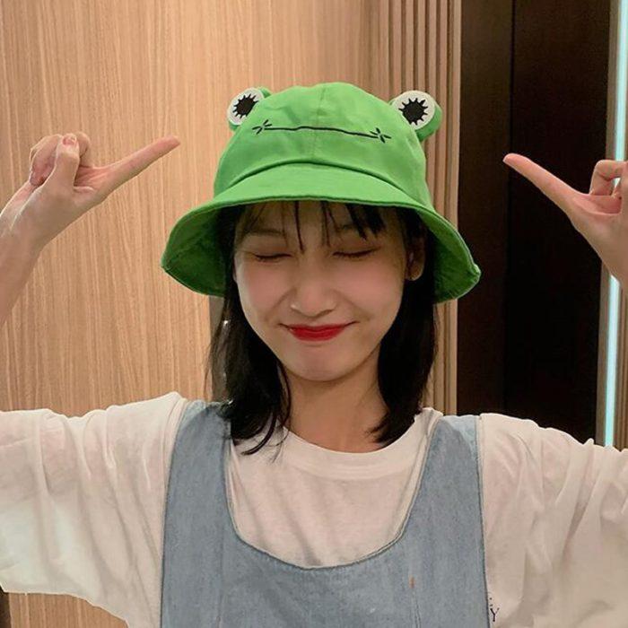 Bucket Hat Frog Design Headwear