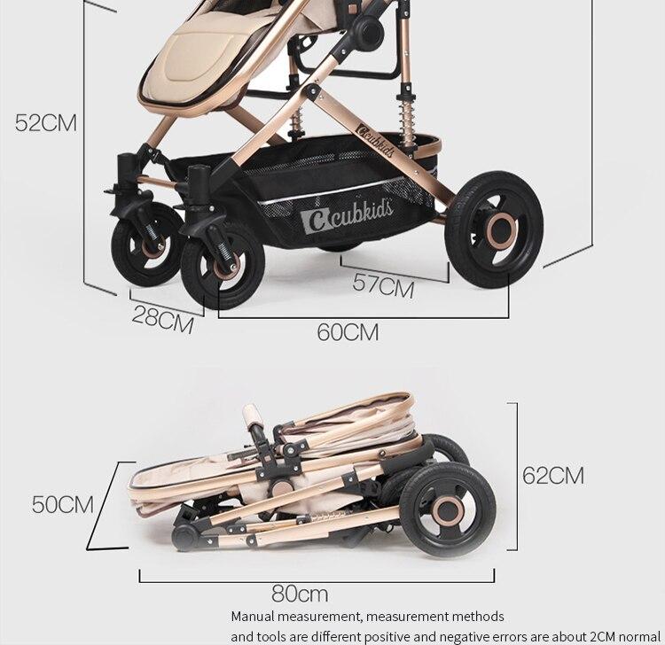 Twin stroller high landscape split double trolley light folding stroller two baby car newborn