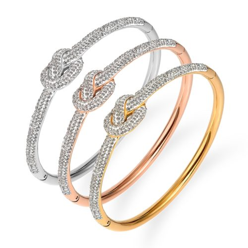 Studded Knot Bracelet Fashion Jewelry