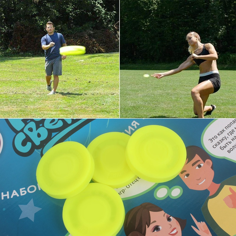 1PC Mini Beach Flying Disk For Outdoor Sports Silicone Balance Disc Decompression Toys To Play Beach Entertainment Toys